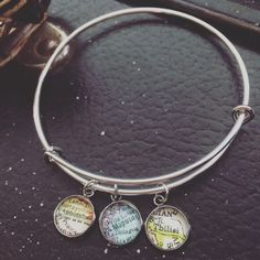 Pendant maps on a bangle look great!!