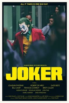 """theandrewkwan: """"theandrewkwan: """" JOKER is wrapped filming! Here's an alternative movie poster I did in two styles! Visit my SHOP """" Love that Joker teaser! Joker Poster, Movie Poster Art, Best Movie Posters, Animated Movie Posters, Film Poster Design, Joker Full Movie, Joker Film, I Movie, Film Thriller"""