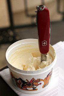 Gruyeres - Double cream, with framboises.
