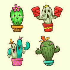 Cactus Drawing, Cactus Painting, Cactus Art, Diy Painting, Painting Frames, Cactus Plants, Drawing Drawing, Cactus Flower, Illustration Cactus