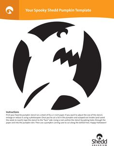 Shark Pumpkin Carving Silhouette