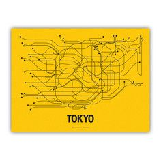 Tokyo Screenprint Yellow, $24, now featured on Fab.