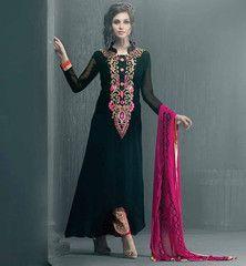 PUNJABI BOUTIQUES INDIAN DRESS DESIGN NEW PATTERNS OF KAMEEZ SUIT #VDKRI8001  Rs. 3,250.00