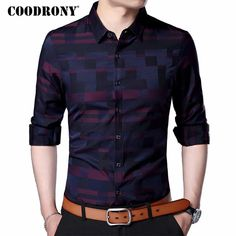 COODRONY Men Shirt Mens Business Casual Shirts 2018 New Arrival Men Famous Brand Clothing Plaid Long Sleeve Camisa Masculina 712 - Men's style, accessories, mens fashion trends 2020 Mens Business Casual Shirts, Casual Shirts For Men, Men Casual, Casual Clothes, Casual Hair, Clothes 2019, Men Clothes, Smart Casual, Casual Outfits