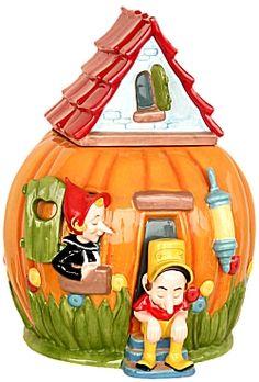 Peter Peter Pumkin Eater Cookie Jar, Nursery Rhyme Cookie Jars