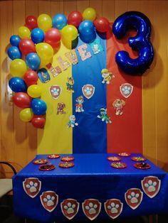Paw Patrol Birthday Decorations, Paw Patrol Birthday Theme, Diy Birthday Banner, 4th Birthday Cakes, 5th Birthday Party Ideas, Baby Boy Birthday, Birthday Parties, Paw Patrol Stickers, Paw Patrol Cake