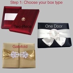 Custom Couture Silk Box Wedding Invitations Any by CarloCards
