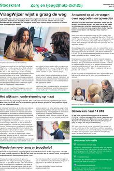 Thema-editie Zorg en (jeugd)hulp in Rotterdam (pag 2/2)   Stadskrant 2 december 2015, 319.000 exemplaren