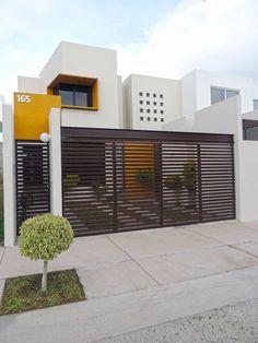 Exterior De Casas Contemporaneas Ideas For 2019 Luxury Homes Exterior, Design Exterior, Luxury Homes Dream Houses, Luxury House Plans, Dream House Exterior, Exterior Houses, House Gate Design, Door Gate Design, Fence Design