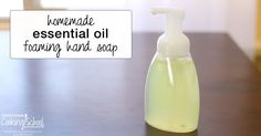 We love essential oil foaming hand soap, but not the price! So I figured out how to make it to save money, stretch soap further, and get healthy soap.