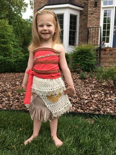 Moana Costume Top and Skirt for Girls Adults or Toddlers