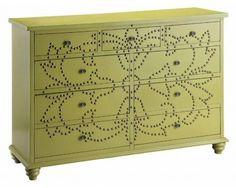 9 Drawer Accent Chest in Green - Sam Levitz Furniture