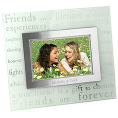 Forever #Friends Glass Picture Frame $19.97