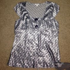 Blue silky blouse 💙 Silky blouse with ties! Size XL // only worn once to interview! Dress Barn Tops Blouses