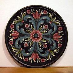 Rogaland Rosemaling Collector Plates by Artist Nancie L. Bush, Gatinburg, TN