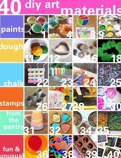diy ideas, art project, diy crafts, diy art, 40 art