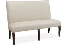 Lee Industries 7758-56 Dining Bench  Overall: W61  D27  H45    Inside: W61  D18  H26    Seat Height: 18  Back Rail Height: 45