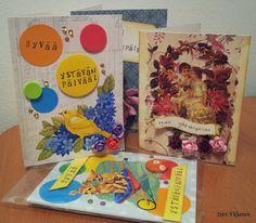 Käsitöitä flamencohame hulmuten * Siiri Viljanen - Ystävänpäiväkortteja / Friend's day cards Valentine's day