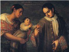castizo paintings | ... produce Castizo (From Spanish man and Mestiza woman, Castizo boy