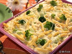 Chicken Pasta Bake - All of your favorite ingredients in one easy dish! #Casserole #Recipe