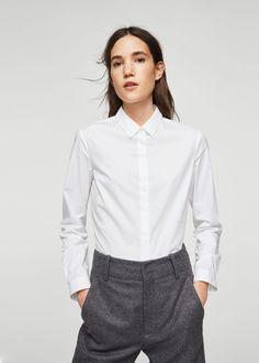 Bawełniana koszula - Kobieta | MANGO Polska