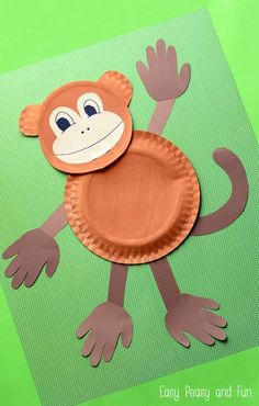 Paper Plate Monkey Crafts for Preschool . 26 Beautiful Paper Plate Monkey Crafts for Preschool Concept . Paper Plate Monkey Fun Paper Plate Crafts for Kids Zoo Crafts, Monkey Crafts, Animal Crafts For Kids, Daycare Crafts, Toddler Crafts, Preschool Crafts, Kids Crafts, Easy Crafts, Safari Crafts