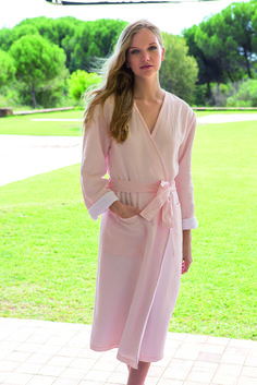 Originel Bath Robe in Poudre color by #YvesDelorme