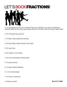 let's rock fractions worksheet {math}