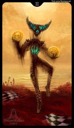 Two of Coins ~ Dreamwalker tarot ~ Divination Cards, Tarot Cards, Wonderland, Online Tarot, Love Tarot, Fantasy Art Women, Occult Art, Tarot Spreads, Pentacle