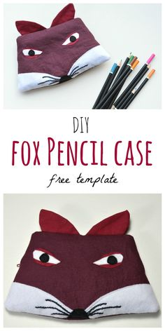 Fancy a fox zip bag? Makes a great pencil case, lip balm, in fact anything! Click through to the blog for tutorial and free downloadable template