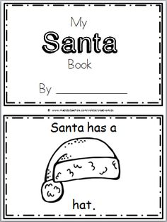 "Free Santa Mini-Book for Kindergarten Practice reading the high frequency word ""has"" in this book. There are 10 pages in this Santa mini book. You can print and use all the pages or ju…"