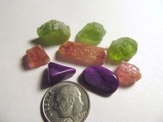 3 Peridot, 3 Imperial Topaz & 2 Sugilite Mixed Lot 58 CT Free US Shipping!