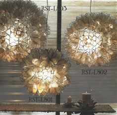 Roost Lotus Flower Chandelier An Individual Hand Cut Capiz Shells Are Edged In Silver Metal And Assembled Like A Stained Glass Window To Create These