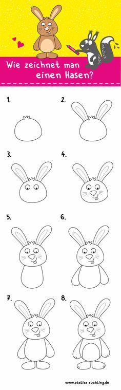 Die 14 besten Bilder von Hase zeichnen | Hase zeichnen ...