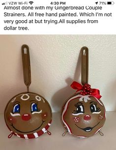 Christmas Crafts, Christmas Ornaments, Dollar Store Crafts, Dollar Tree, Gingerbread, Hand Painted, Holiday Decor, Home Decor, Ornament