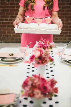 PINK   POLKA DOT MOTHER'S DAY BRUNCH STYLED TABLE