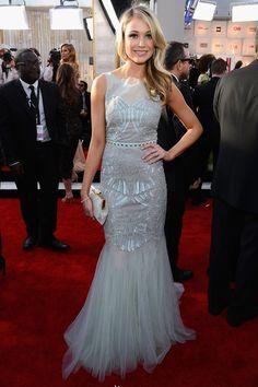 SAG Awards 2013 Katrina Bowden in Badgley Mischka and Forevermark Diamonds