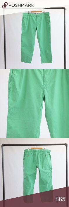 "Tommy Hilfiger Green Pants Tommy Hilfiger bright green pants. 100% cotton. 30"" inseam on the pants. Tommy Hilfiger Pants"