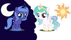 luna and celestia fillies