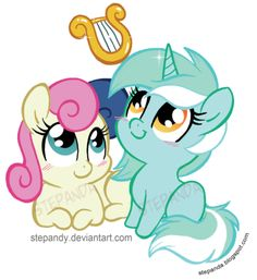 Bon Bon and Lyra by StePandy.deviantart.com on @DeviantArt
