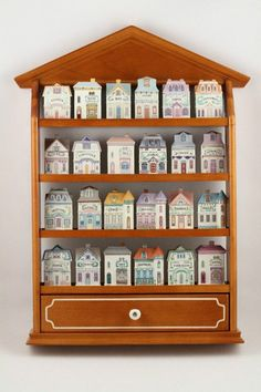 New Lenox Spice Village Victorian House Spice Jars 24 Complete Set Cabinet | eBay