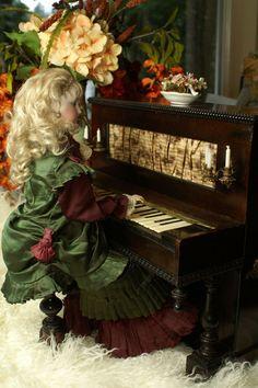 Fantastic Rare Vichy Piano Automaton with Secrets!  Beautiful Bebes' Attic Finds on Ruby Lane  www.rubylane.com