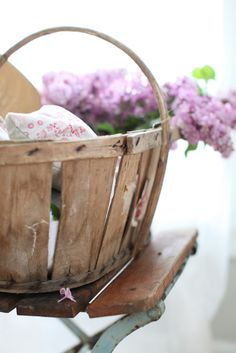lilac...old basket