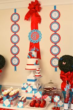 Tons of great ideas on this blog post. Embellish: All American Girl Birthday Party