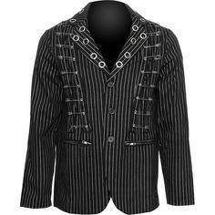 Goth shop: Raven SDL pinstripe men's jacket, safety pins