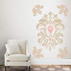 Charming Fathead Martha Stewart Linen Damask Wall Decals   Wall Sticker Outlet