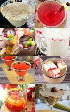 Here are thirteen delicious Christmas cocktails for you to serve this holiday season! Ginger Mulled Wine, Chocolate Peppermint Martini, and a Saint Nickarita are just a few on the list to try. via @homestoriesatoz