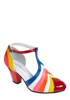 Painted Love Heel $174.99  I don't know if I'd actually wear this, but it reminds me of that room In Willy Wonka's factory where everything was made of candy.
