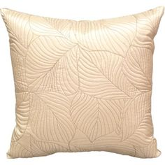 $20.00 almond, nice background option. Highland Quilted Leaf Decorative Pillow, Almond