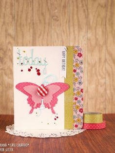 How to Make a Butterfly Card using Sizzix die